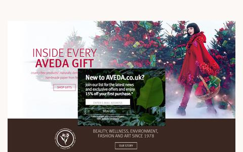 Homepage | Aveda United Kingdom E-Commerce Site