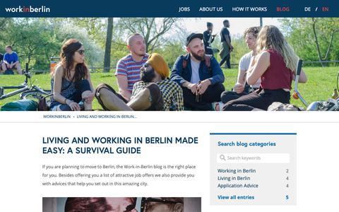 Screenshot of Blog work-in-berlin.com - Living & Working in Berlin Blog | Work in Berlin - captured Nov. 16, 2018