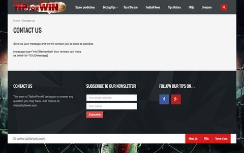 Screenshot of Contact Page tipforwin.com - Contact Us - tipforwin.com - captured Nov. 25, 2015