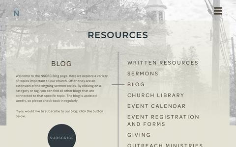 Screenshot of Blog nscbc.org - Blog – NSCBC - captured Oct. 18, 2018