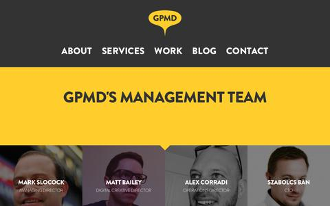 Screenshot of Team Page gpmd.co.uk - The Management Team | GPMD - captured Nov. 4, 2018