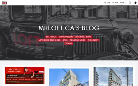 Screenshot of Blog mrloft.ca - Blog - MrLOFT.ca - captured Sept. 23, 2018