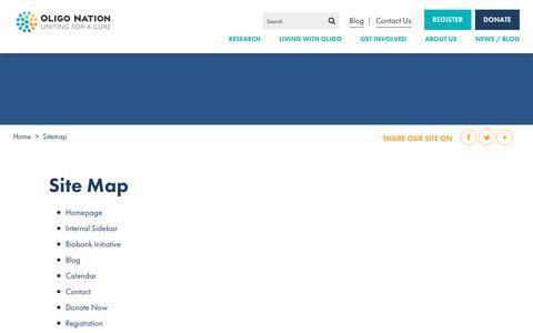 Screenshot of Site Map Page oligonation.org - Sitemap | Oligo Nation - captured Sept. 20, 2018