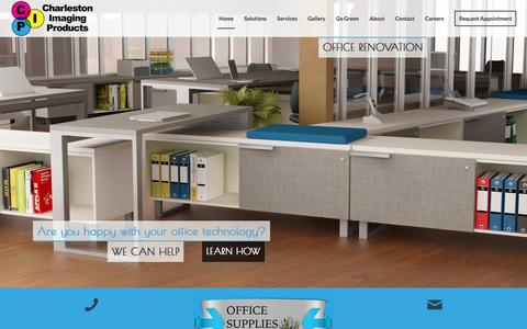 Screenshot of Home Page charlestonimaging.com - Charleston Imaging Products - Office Solutions - captured Jan. 27, 2016
