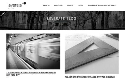 Screenshot of Blog leverate.de - Blog | Leverate Media GmbH - captured Nov. 7, 2016