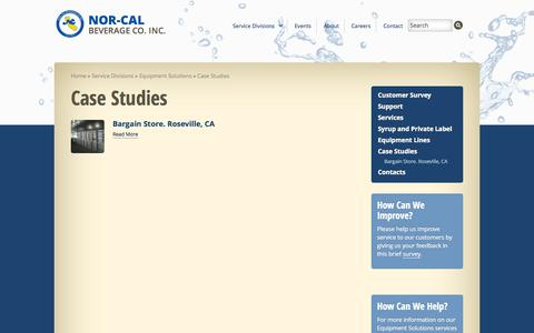 Screenshot of Case Studies Page ncbev.com - Case Studies - Nor-Cal Beverage - captured Oct. 26, 2014