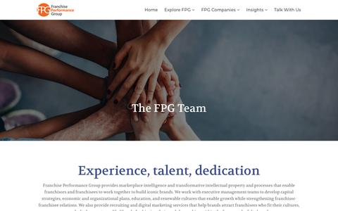Screenshot of Team Page franchiseperformancegroup.com - Meet the Team | Franchise Performance Group - captured Aug. 21, 2018
