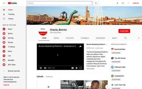 Oracle_Bronto - YouTube - YouTube