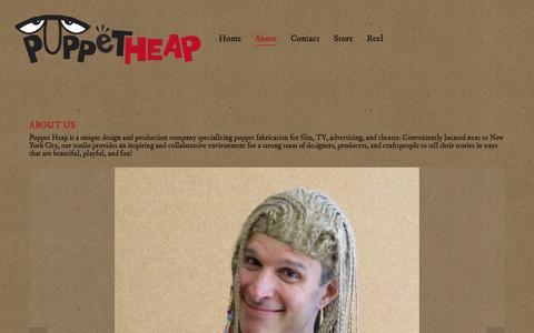 Screenshot of About Page puppetheap.com - About — Puppet Heap - captured Nov. 2, 2014