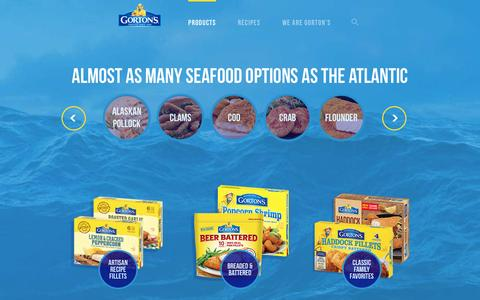Screenshot of Products Page gortons.com - Products - Gorton's Seafood - captured May 17, 2017