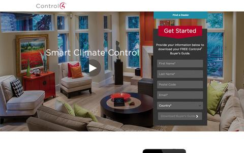 Screenshot of Landing Page control4.com - Climate Control | Control4 - captured Oct. 27, 2014