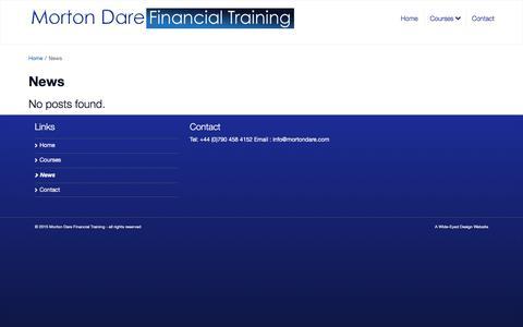 Screenshot of Press Page mortondare.com - News - Morton Dare Financial Training - captured Feb. 24, 2016