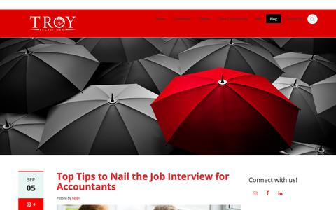 Screenshot of Blog troyrecruitment.com - Blog - Troy Recruitment - captured Oct. 20, 2018