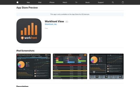 Workfront View on the AppStore