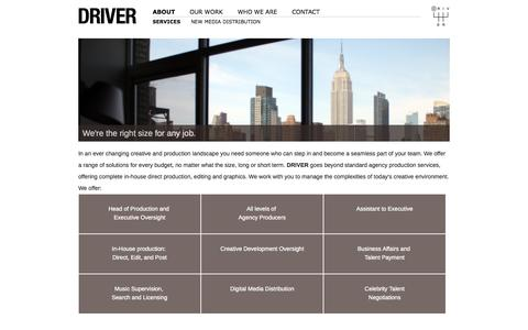Screenshot of About Page driver.tv - DRIVER - captured Oct. 5, 2014