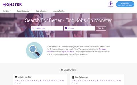 Find Jobs in the US. Build a Career. Find Your Calling | Monster.com