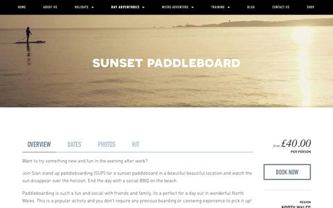 Sunset paddleboard — Psyched Adventures