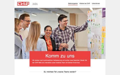 Screenshot of Jobs Page chip.de - Jobs und Stellenangebote bei CHIP in München › Jobs und Stellenangebote bei CHIP in München - captured Sept. 21, 2018
