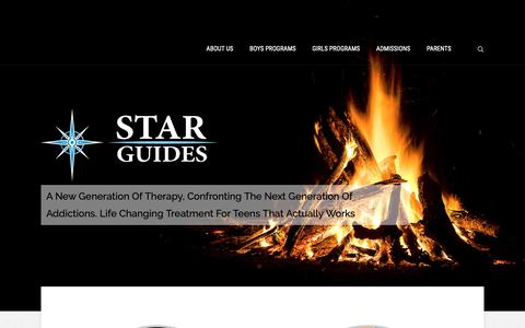 Screenshot of Home Page starguideswilderness.com - STAR Guides Wilderness | Home - captured Oct. 20, 2018