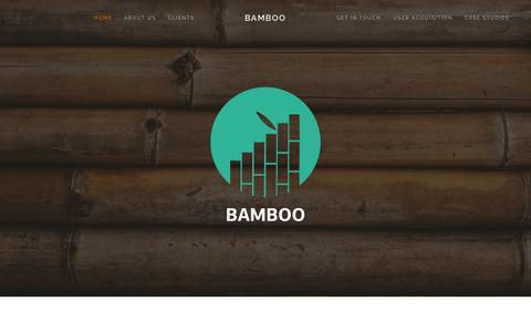 Screenshot of Home Page Services Page bamboollc.com - Bamboo - captured Sept. 30, 2014