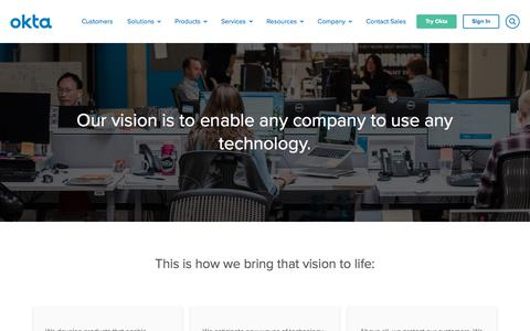 Identity and Access Management Vision | Okta