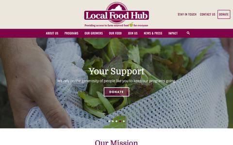 Screenshot of Home Page localfoodhub.org - Local Food Hub | Farm Sourced Food for Everyone - captured July 21, 2018
