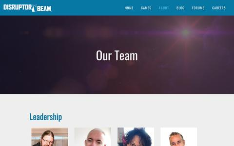 Screenshot of Team Page disruptorbeam.com - Team — Disruptor Beam - captured Feb. 14, 2019