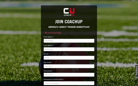 Screenshot of Signup Page coachup.com - Sign Up - Athlete or Parent | CoachUp - captured Sept. 13, 2014