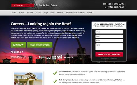 Screenshot of Jobs Page hermannlondon.com - St. Louis Real Estate License - How to be a Realtor in Missouri - captured Sept. 19, 2014