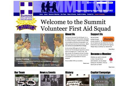 Screenshot of Home Page summitems.org - Summit Volunteer First Aid Squad | Neighbors helping neighbors since 1962 - captured Oct. 7, 2014