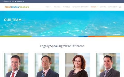 Screenshot of Team Page hdm.ie - Our Team for Legal Services - Hogan, Dowling McNamara Solicitors - captured Sept. 29, 2018