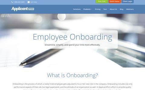 Onboarding - ApplicantPro