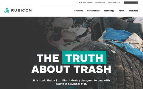 Business Waste Management Solutions   Truth About Trash   Rubicon