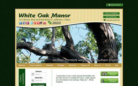 Screenshot of Contact Page Maps & Directions Page bedandbreakfastjeffersontx.com - White Oak Manor; Our Bed and Breakfast in East Texas - captured Oct. 25, 2017