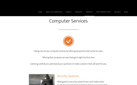 Screenshot of Services Page dccomputers.ca - Computer Services - DC Computers - captured Aug. 5, 2018