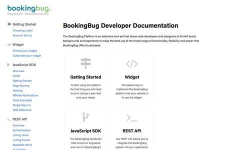 Developer Docs - BookingBug