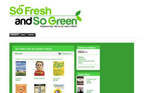 Screenshot of Products Page sofreshandsogreen.com - Products | So Fresh and So Green - captured Oct. 7, 2014