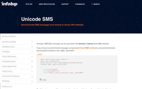 Unicode SMS