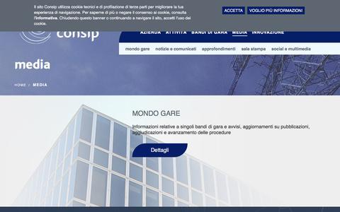Screenshot of Press Page consip.it - media | Consip - captured July 13, 2018