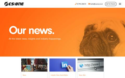Screenshot of Press Page csone.co.uk - Digital Marketing News & Insights - CS One Design in Kent - captured Jan. 13, 2019