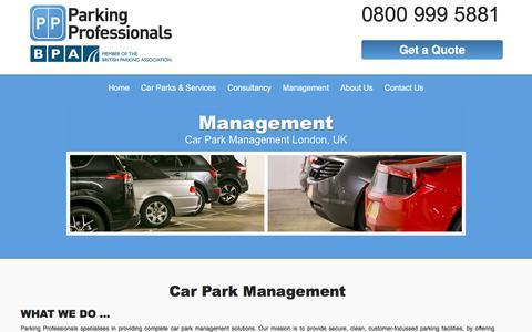 Screenshot of Team Page parking-pros.co.uk - UK & London car park management solutions   Parking Professionals - captured July 14, 2017