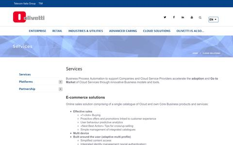 Screenshot of Services Page olivetti.com - Services | Olivetti SPA - captured June 12, 2017