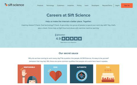 Careers at Sift Science | Sift Science