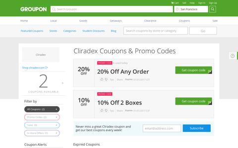Cliradex Coupons: Cliradex Promo Code & Coupon Discounts 2017   Groupon