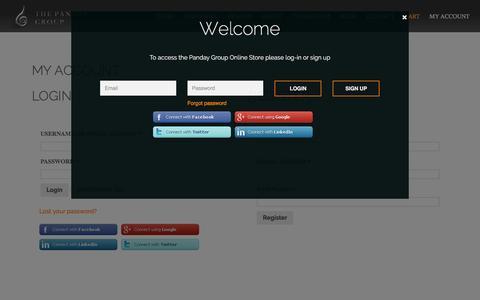 Screenshot of Signup Page pandaygroup.com - My Account - Panday Group, interior design, luxury interior - captured Jan. 25, 2016