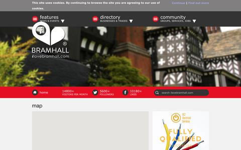 Screenshot of Maps & Directions Page ilovebramhall.com - I Love Bramhall map | I Love Bramhall - captured July 25, 2018