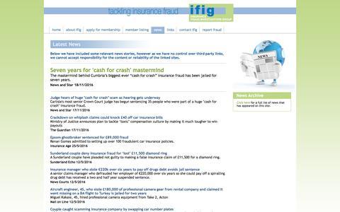 Screenshot of Press Page ifig.org - IFIG News Items - captured Nov. 26, 2016
