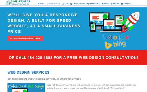 Professional web design, at affordable web design prices!