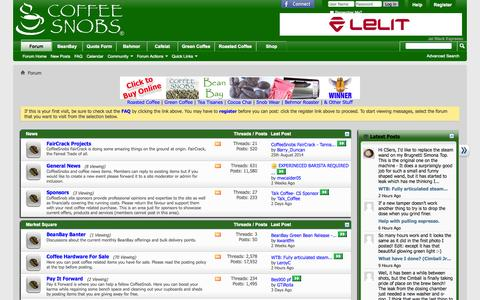 Screenshot of Press Page coffeesnobs.com.au - CoffeeSnobs - captured Oct. 30, 2014