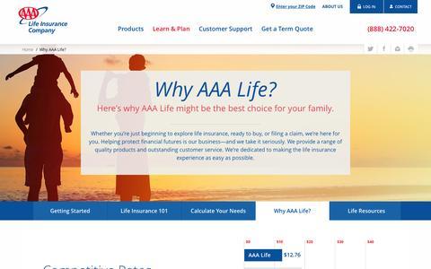 AAA Life Insurance Advantage - Company & Products